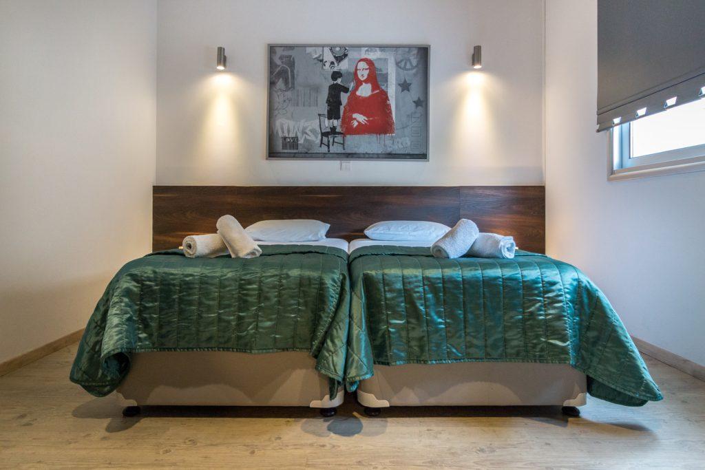bedroom, art, decor, bed, light