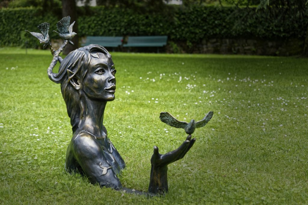 Lively statue
