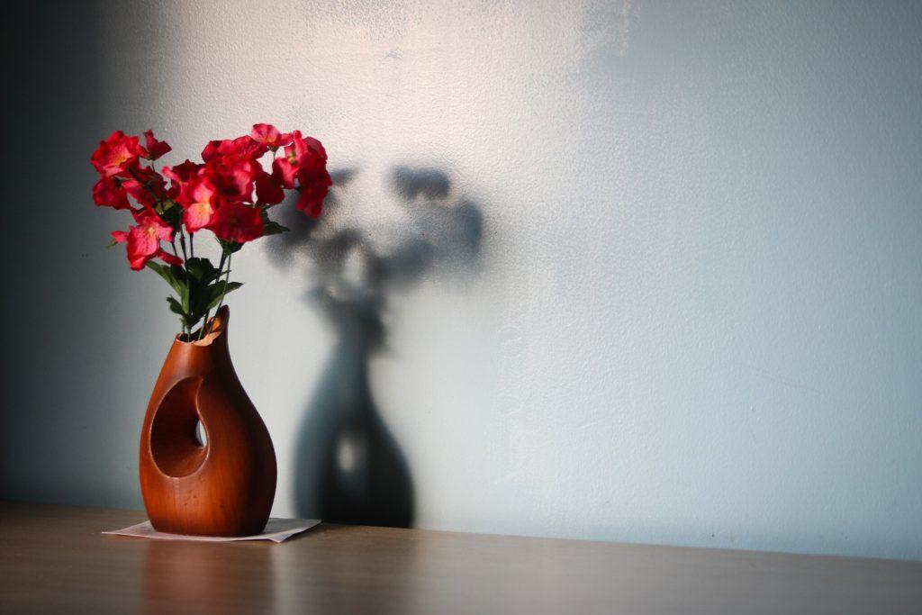 flower-vase on the floor