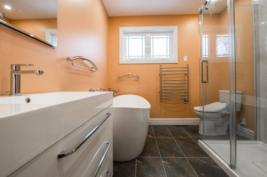 renovated bathroom using fresh paint coat